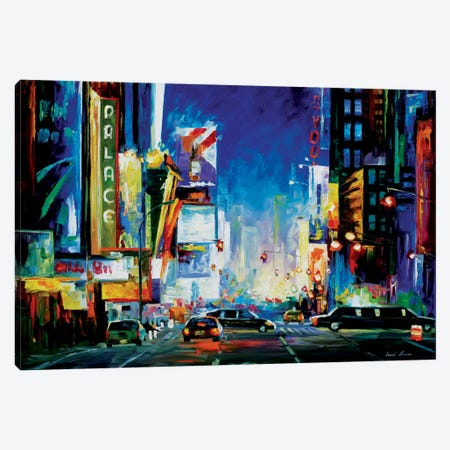 Broadway Canvas Print #LEA11} by Leonid Afremov Canvas Artwork