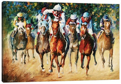 Horse Race Canvas Art Print