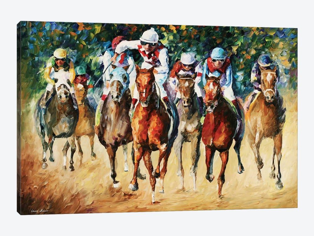 Horse Race by Leonid Afremov 1-piece Art Print