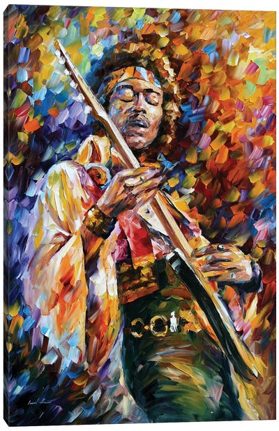 Jimi Hendrix by Leonid Afremov Canvas Artwork