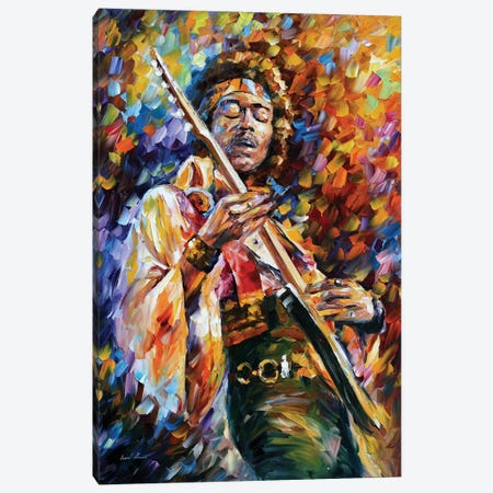Jimi Hendrix Canvas Print #LEA122} by Leonid Afremov Canvas Artwork