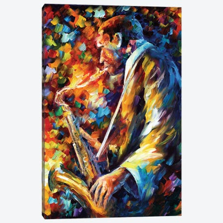 John Coltrane I Canvas Print #LEA123} by Leonid Afremov Canvas Artwork