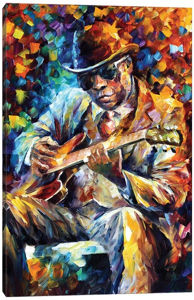 John Lee Hooker Canvas Art Print