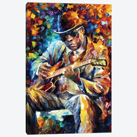 John Lee Hooker Canvas Print #LEA125} by Leonid Afremov Art Print
