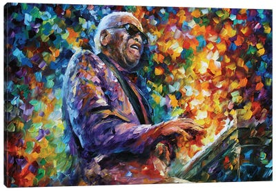 Ray Charles Canvas Art Print