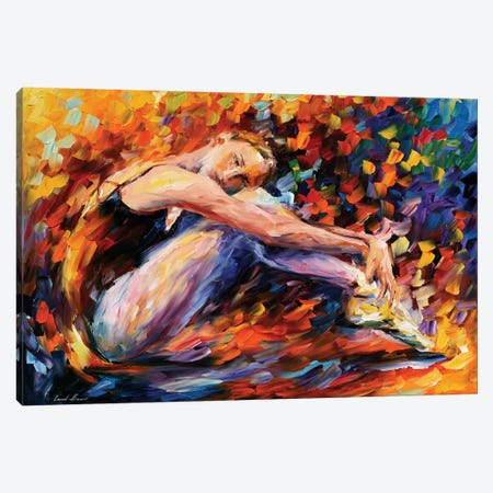 Resting Ballerina Canvas Print #LEA129} by Leonid Afremov Canvas Wall Art