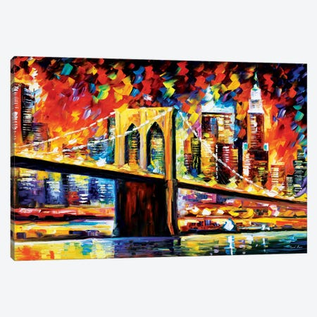 Brooklyn Bridge Canvas Print #LEA12} by Leonid Afremov Canvas Art