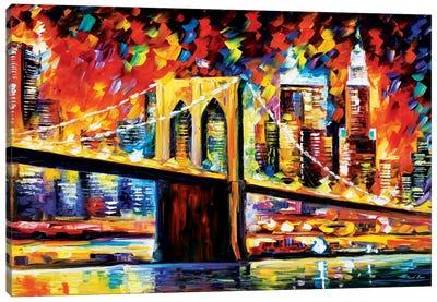 Brooklyn Bridge Canvas Print #LEA12