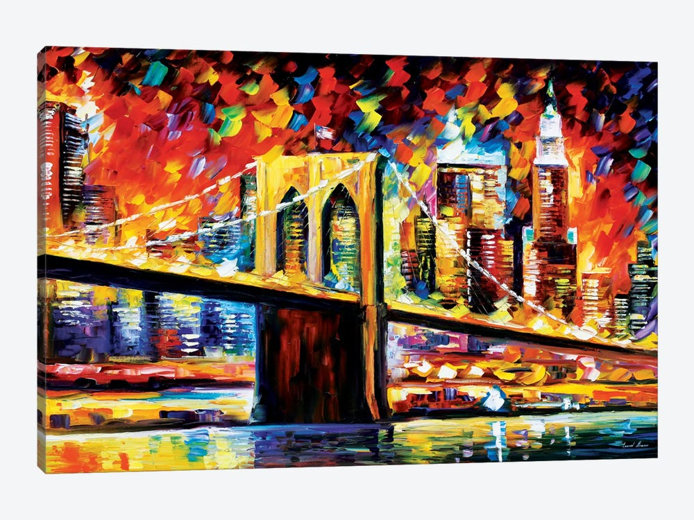 Brooklyn Bridge by Leonid Afremov 1-piece Canvas Wall Art