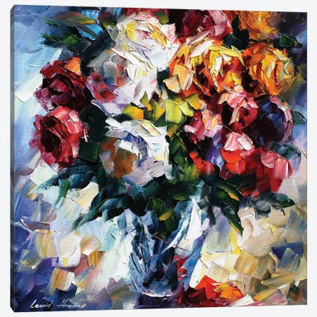 Roses Canvas Print #LEA130} by Leonid Afremov Canvas Art Print