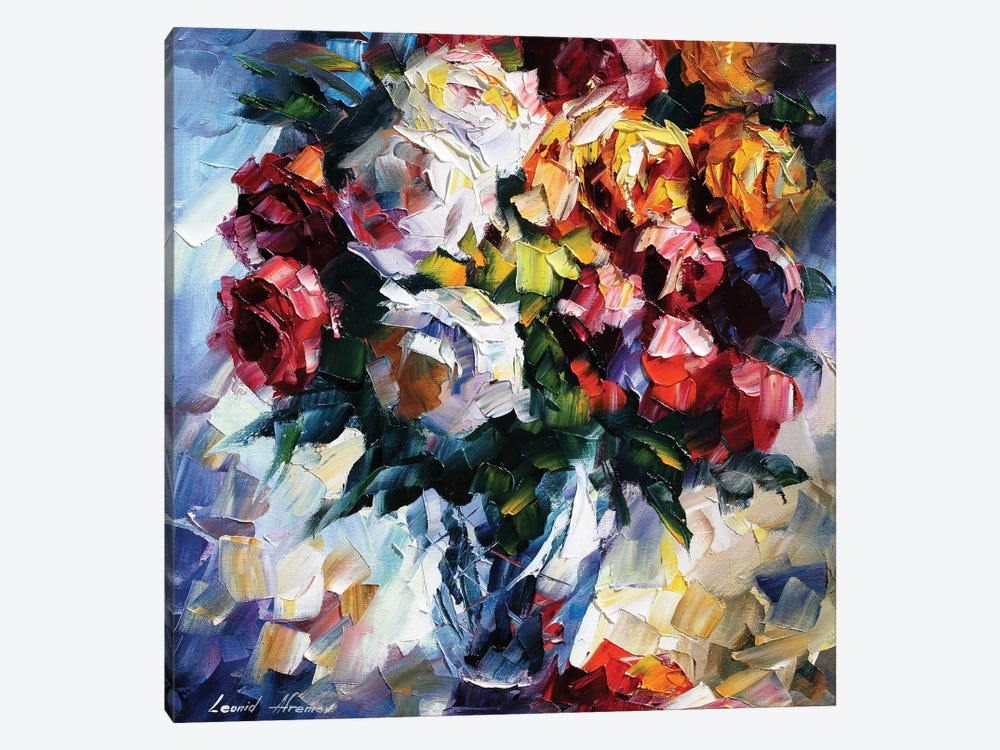 Roses by Leonid Afremov 1-piece Canvas Artwork
