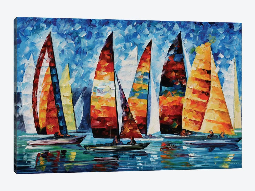 Sail Regatta by Leonid Afremov 1-piece Art Print