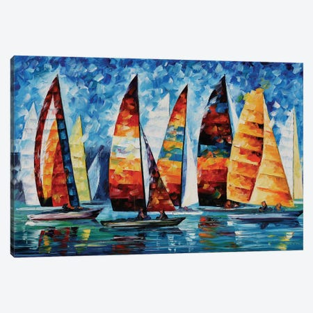 Sail Regatta Canvas Print #LEA131} by Leonid Afremov Art Print