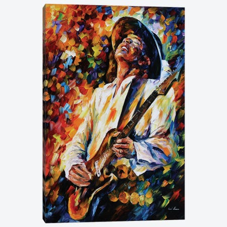 Stevie Ray Vaughn Canvas Print #LEA132} by Leonid Afremov Art Print