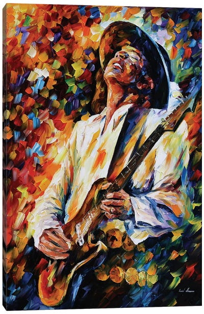 Stevie Ray Vaughn Canvas Art Print