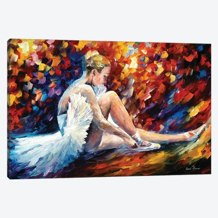 Young Ballerina Canvas Print #LEA136} by Leonid Afremov Canvas Wall Art