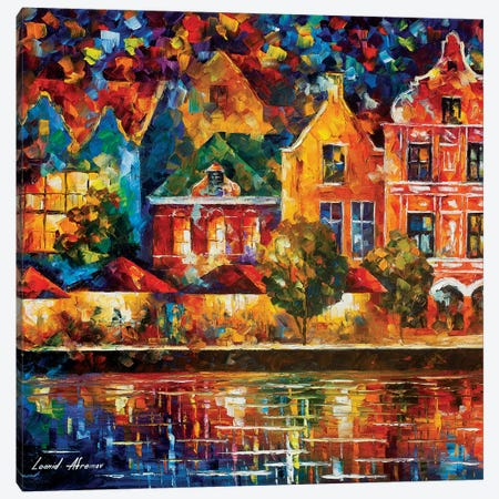 Amsterdam Of My Dreams Canvas Print #LEA138} by Leonid Afremov Art Print