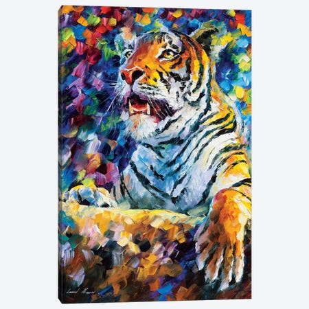 Angry Tiger Canvas Print #LEA139} by Leonid Afremov Canvas Print