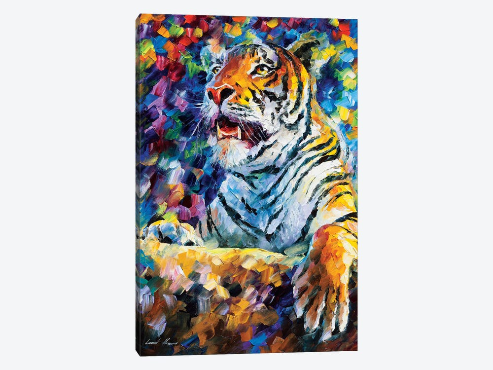 Angry Tiger by Leonid Afremov 1-piece Canvas Print