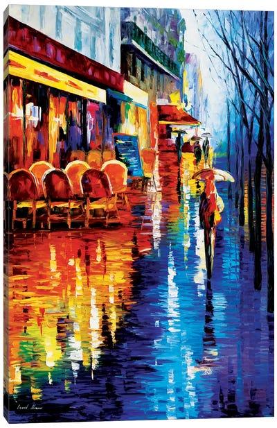 Cafe In Paris Canvas Print #LEA13