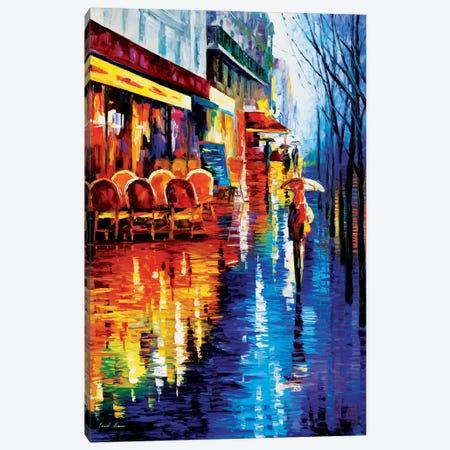 Cafe In Paris Canvas Print #LEA13} by Leonid Afremov Canvas Artwork