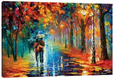 Autumn Hug Canvas Art Print