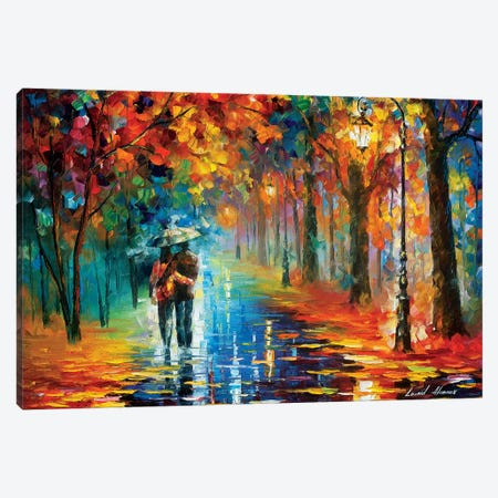 Autumn Hug Canvas Print #LEA140} by Leonid Afremov Canvas Wall Art