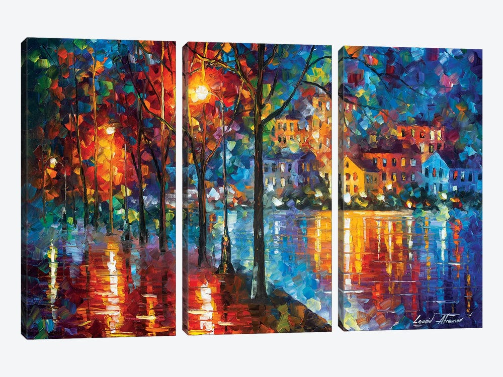 Cold Emotion by Leonid Afremov 3-piece Canvas Art