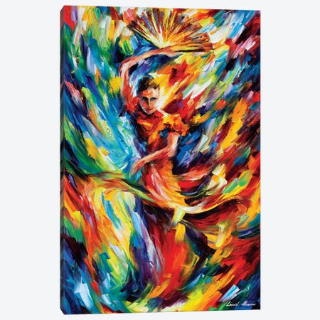 Flamenco Canvas Print #LEA149} by Leonid Afremov Canvas Art