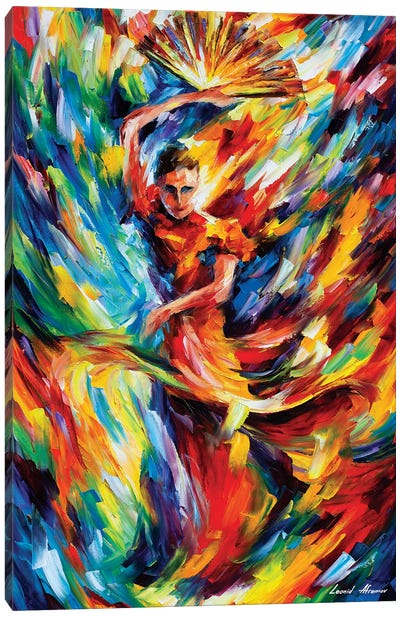 Flamenco Canvas Art Print