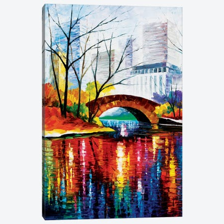 Central Park - New York Canvas Print #LEA14} by Leonid Afremov Canvas Art Print
