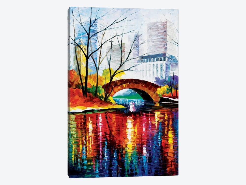 Central Park - New York by Leonid Afremov 1-piece Canvas Artwork
