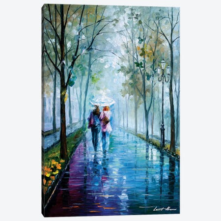 Foggy Stroll Canvas Print #LEA150} by Leonid Afremov Art Print