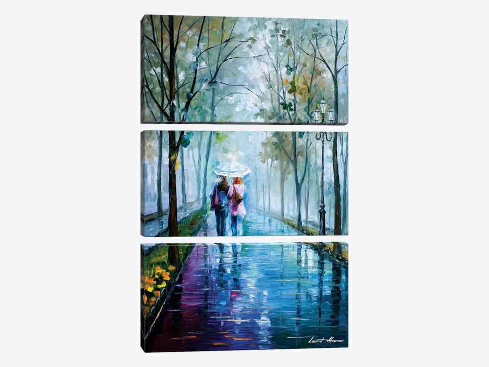 Foggy Stroll by Leonid Afremov 3-piece Canvas Wall Art
