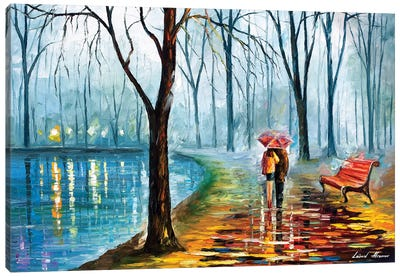 Inside The Rain Canvas Art Print