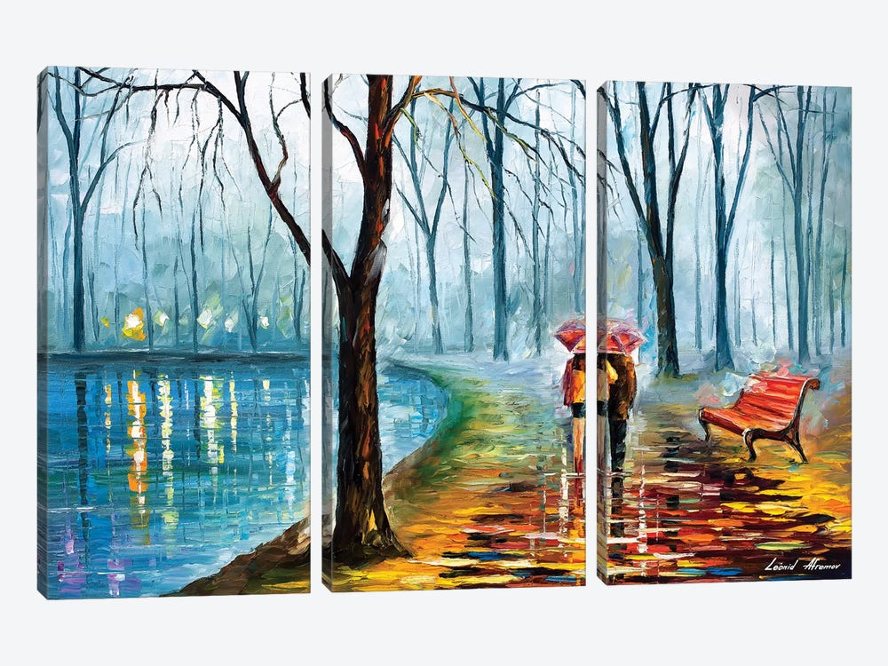 Inside The Rain by Leonid Afremov 3-piece Canvas Artwork