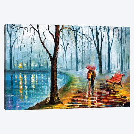 Inside The Rain 3-Piece Canvas #LEA154} by Leonid Afremov Canvas Artwork