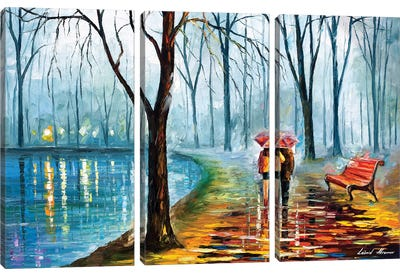 Inside The Rain Canvas Art Print