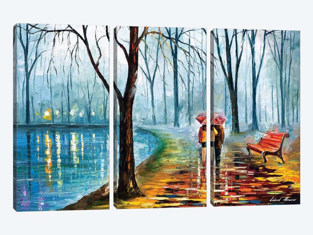 Inside The Rain by Leonid Afremov 3-piece Canvas Artwork