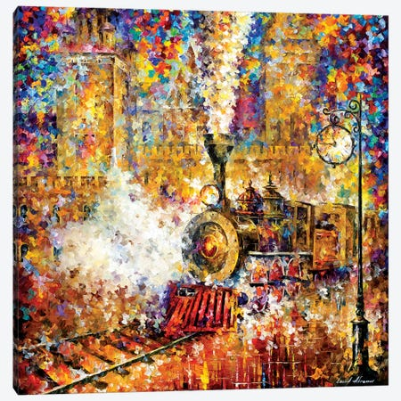 Last Train Canvas Print #LEA156} by Leonid Afremov Canvas Artwork
