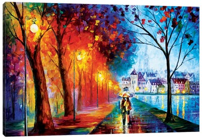 City By The Lake Canvas Art Print
