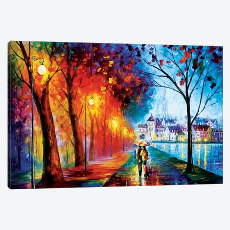 City By The Lake Canvas Print #LEA15} by Leonid Afremov Canvas Print