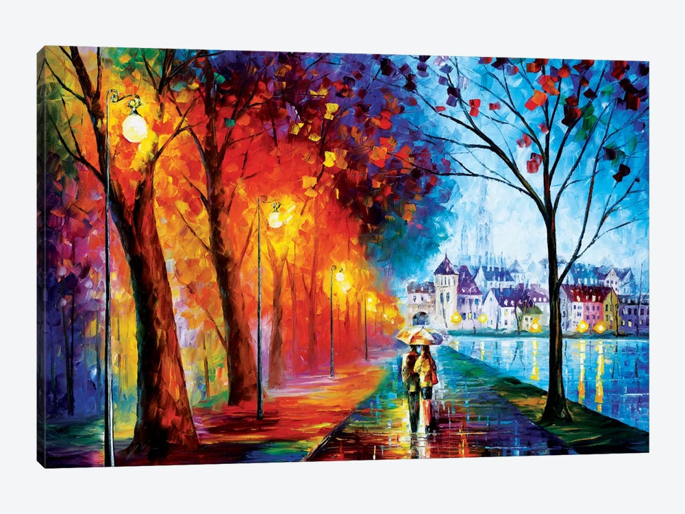 City By The Lake by Leonid Afremov 1-piece Canvas Art Print