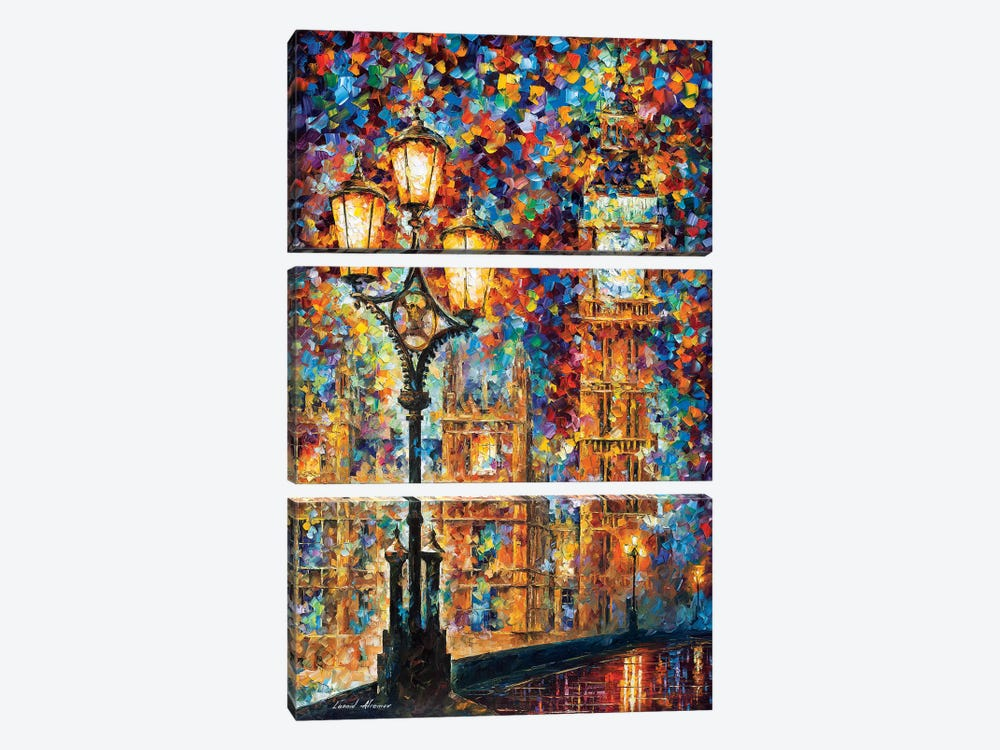 London's Dreams by Leonid Afremov 3-piece Canvas Artwork