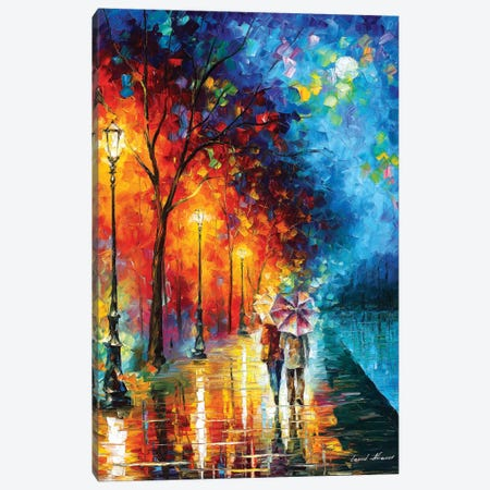 Love By The Lake Canvas Print #LEA162} by Leonid Afremov Canvas Wall Art