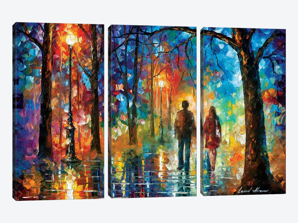 Love In The Air by Leonid Afremov 3-piece Canvas Wall Art