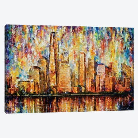 New York City Canvas Print #LEA165} by Leonid Afremov Canvas Art Print