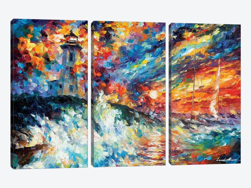 Ocean Thrill by Leonid Afremov 3-piece Canvas Art Print