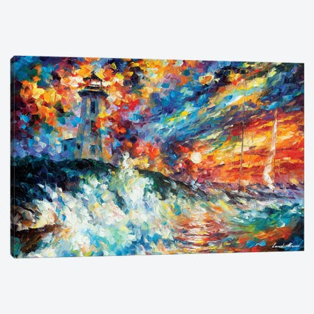 Ocean Thrill Canvas Print #LEA166} by Leonid Afremov Art Print