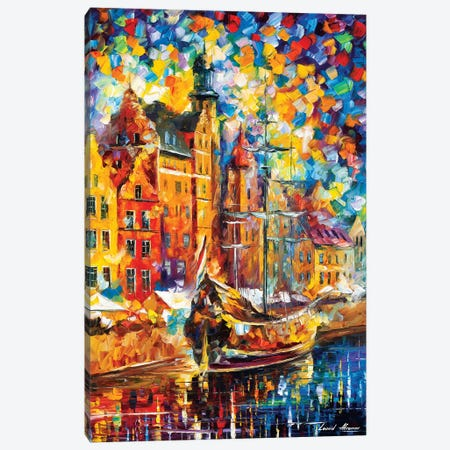Old Dock Canvas Print #LEA167} by Leonid Afremov Art Print